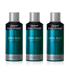 Park Avenue Cool Blue Deodorant For Men Pack of 3 - 150 mL each
