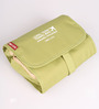Packnbuy Nylon Green Hanging Travel Toiletry Bag Kit with Detachable Pouch