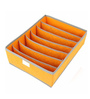 PackNBUY Non-Woven Fabric Orange Innerwear, Tie & Socks Organizer
