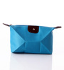 Packnbuy Pu Leather Blue Mini Cosmetic Pouch