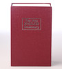 PackNBUY Red Metal 10 x 6 x 2.5 Inch Dictionary Book Safe With Keys
