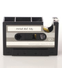 Packnbuy Plastic Grey Retro Style Rewind Desk Pen Stand with Tape Dispenser