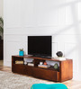 Savannah Entertainment Unit in Honey Oak Finish by Woodsworth