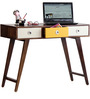 Denali Study & Laptop Table with Drawers in Provincial Teak Finish by Woodsworth