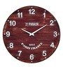 Panash Art Red Solid Wood 18 x 0.8 x 18 Inch Sand Art Wall Clock