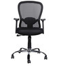 Paris Medium Back Ergonomic Chair in Black Colour by HomeTown