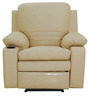 Parso One Seater Motorized Recliner Chair in Ivory Colour by Furnitech