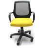 Patayya Ergonomic Chair in Black & Yellow Colour by Chromecraft