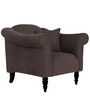 Paulina One Seater Sofa in Slate Colour by CasaCraft