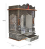 Pavitra Mandir Silver Wood, Aluminium & Copper Carving Temple