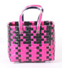Peacock Life Small Plastic Black & Pink Basket