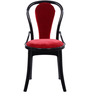 Pearl Super Chair (Set of 6) in Black and Red Colour by Supreme