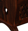 Grafton Table Cum Magazine Rack in Honey Oak Finish by Amberville