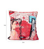 Per Inch Multicolour Poly Velvet 16 x 16 Inch Lips Cushion Cover