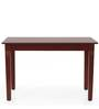 Percy Four Seater Dining Table in Semi Glossy Walnut Color by JFA Touchwood
