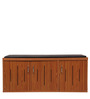 Persona Shoe Rack with cushion Seat in Brown Colour by RVF