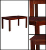 Oroville Six Seater Dining Set in Honey Oak Finish by Woodsworth