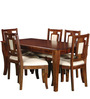 Arnot Six Seater Dining Set in Provincial Teak Finish by Amberville