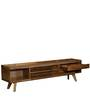 Pessora Entertainment Unit in Natural Finish by CasaCraft