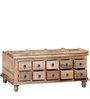 Petika - Trunk Box Cum Centre Table in Natural Finish by Mudramark