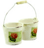 Importwala White Ceramic Petite French Country Style