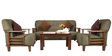 Phoenix Sofa Set (3 + 1 + 1) Seater in Brown Colour by Vive