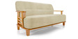 Phoenix Three Seater Sofa in Beige Natural Colour by Vive