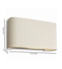 Philips 33200_38 Curvy Rectangular Wall Light
