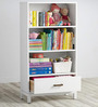Philips Book Shelf in White Colour by Asian Arts