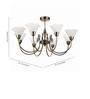 Philips Bronze Centerpiece Suspension Light