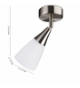 Philips Chrome Synthetic Wall Light