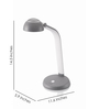 Philips Grey Polycarbonate Taffy Desk Lamp