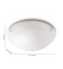 Philips White Glass Flush Mounted