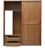 Phoebe Two Door Sliding Wardrobe in Brown Colour by Lalco Interiors