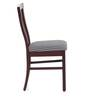 Phoenix Set of 2 Dining Chair in Semi-Glossy Rosewood Finish by JFA Touchwood