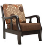 Phoenix Solidwood One Seater Sofa in Brown Colour by HomeTown