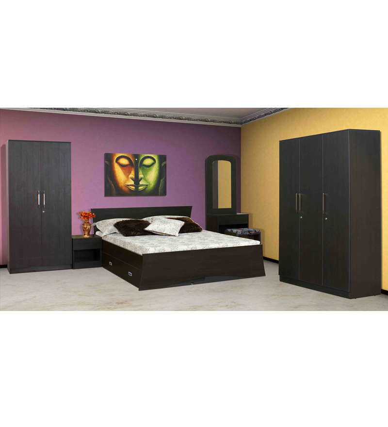 Combo Set 3 Dr Wardrobe Bed With Storage Side Table Dressing Table