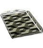 Pickled Canvas Geometric Black  White Cubes Bedside Acrylic Tray