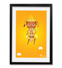 Pickypomp Paper 8 x 12 Inch Cute Lord Hanuman In Yellow Framed Wall Poster