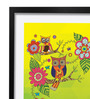 Pickypomp Paper 8 x 12 Inch Cute Owl in Green Framed Wall  Digital Art Print