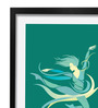 Pickypomp Paper 8 x 12 Inch Dancing Girl in Green Framed Wall  Poster