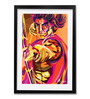 Pickypomp Paper 8 x 12 Inch Lord Rama Framed Wall Poster