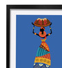 Pickypomp Paper 8 x 12 Inch Tribal with Basket Framed Wall  Poster
