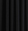 PIndia Black Polyester 60 x 48 Inch Solid Eyelet Window Curtain - Set of 2