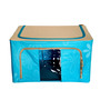 Pindia Foldable Fabric Aqua 55 L Clothes Organizers with Steel Frame