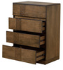 Felipa Chest Of Drawers in Antique Grey Finish by CasaCraft