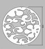 Planet Decor White Acrylic Flower & Leaves Room Divider