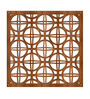 Planet Decor Brown Acrylic with Wooden Lamination Circular Room Divider
