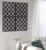 Planet Decor Black Acrylic Overlapping Squares Room Divider