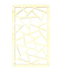Planet Decor White Teak Acrylic with Wooden Lamination Room Divider